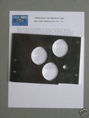 TRANSMISSION SHIM MEASURING PLATE - FOR 5-SPEED AIRHEADS